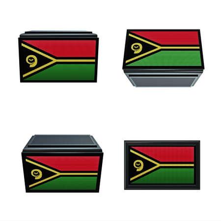 box size:  Vanuatu flags 3D Box big size set 4 in 1