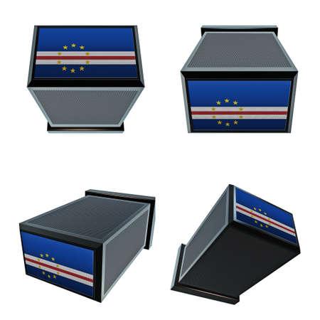 box size: cape verde flags on 3D Box  big size set moving