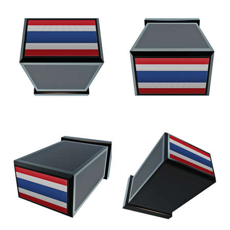 box size: thailand flags on 3D Box  big size set moving