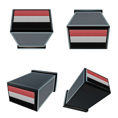 box size: yemen flags on 3D Box  big size set moving