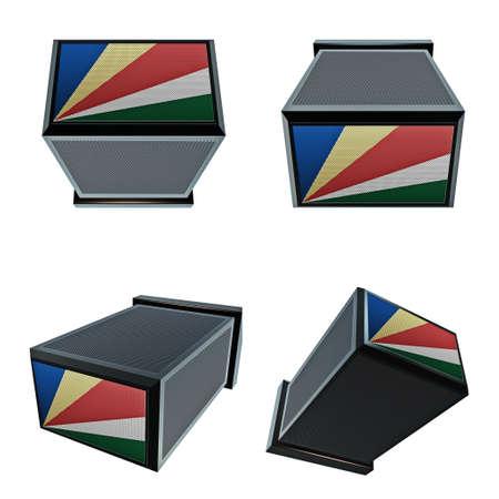 box size: seychelles flags on 3D Box  big size set moving