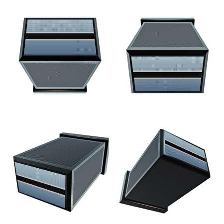 box size: botswana flags on 3D Box  big size set moving