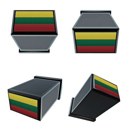 box size: lithuania flags on 3D Box  big size set moving