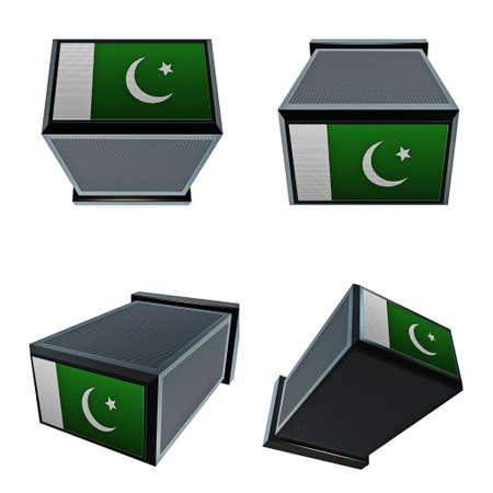 box size: pakistan flags on 3D Box  big size set moving