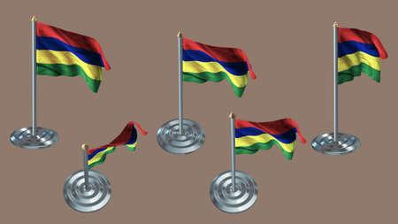 ee: mauritius pin with aluminium texture set