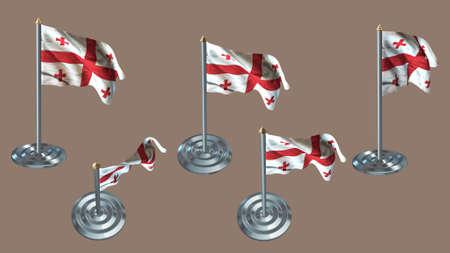 ee: georgia pin with aluminium texture set