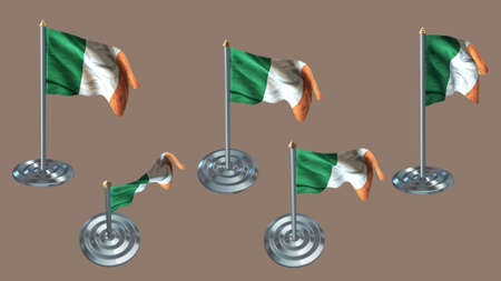 aluminium texture: Ireland pin with aluminium texture set