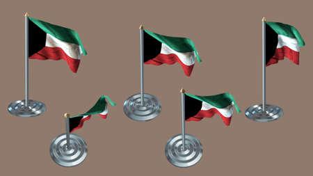 ee: kuwait pin with aluminium texture set