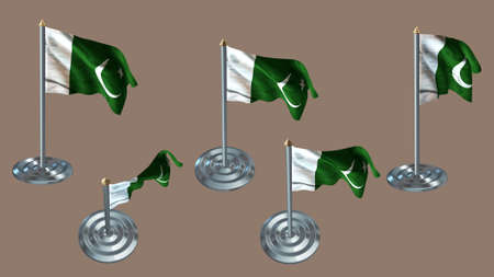 aluminium texture: pakistan pin with aluminium texture set