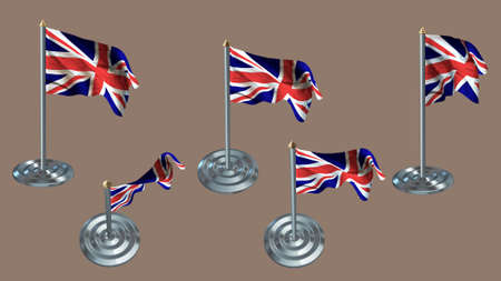 aluminium texture: united kingdom pin with aluminium texture set
