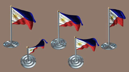 aluminium texture: Philippines pin with aluminium texture set