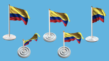 ee: colombia flags with white pin set multiple views