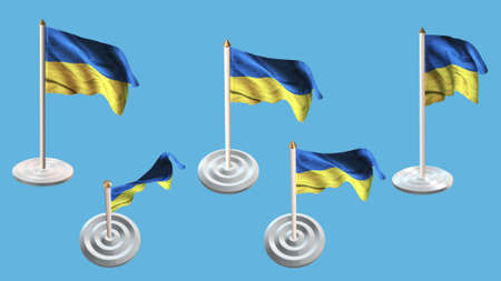 ee: ukraine flags with white pin set multiple views