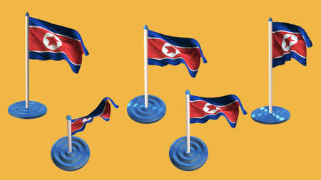 Korea South Flags Blue And White Pin With Flag Waving Stock Photo - north flags