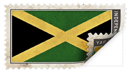 ajar: jamaica flag on stamp independence day be ajar