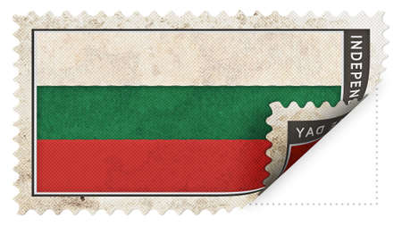 ajar: bulgaria flag on stamp independence day be ajar