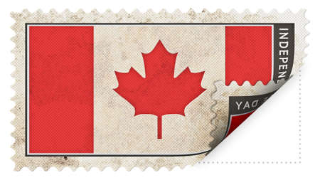 ajar: canada flag on stamp independence day be ajar