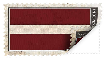 ajar: latvia flag on stamp independence day be ajar