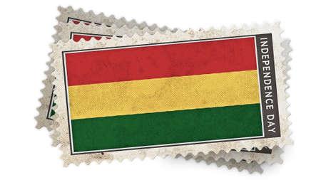 bandera de bolivia: bandera de Bolivia en el d�a de la independencia es el sello de superposici�n