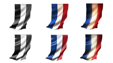 netherlands flags waving set 6 in 1 vertical styles photo