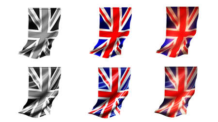 defeated:  united kingdom flags waving set 6 in 1 vertical styles