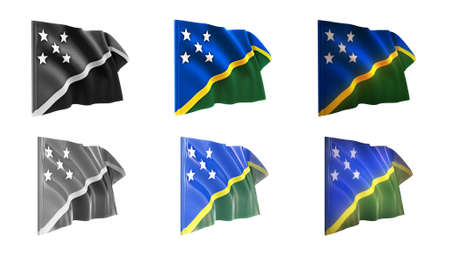defeated:  solomon islands flags waving set 6 in 1 athwart styles
