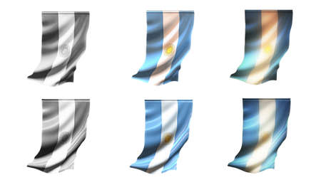 defeated: argentina flags waving set 6 in 1 vertical styles