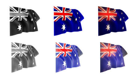 defeated: australia flags waving set 6 in 1 athwart styles