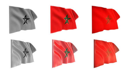 defeated:  morocco flags waving set 6 in 1 athwart styles