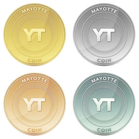 mayotte: MAYOTTE coin front view