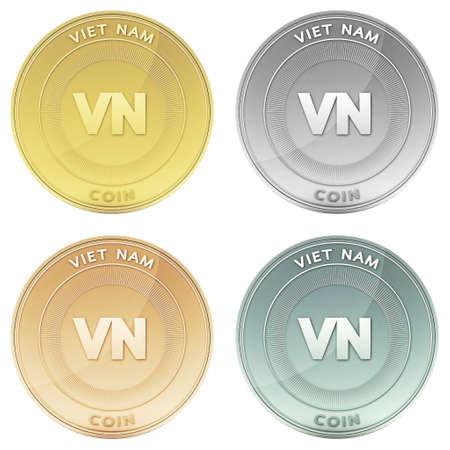 viet nam: VIET NAM coin front view