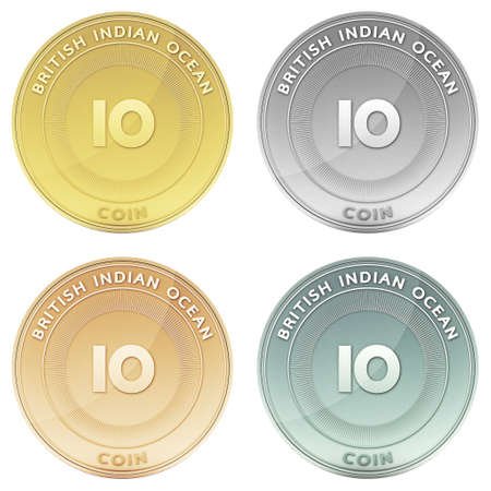 indian ocean: BRITISH INDIAN OCEAN TERRITORY coin front view Stock Photo