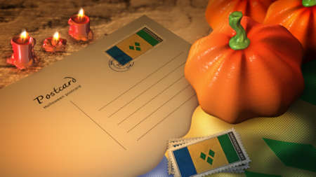 grenadines: st vincent & the grenadines halloween day and postcard