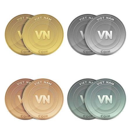 VIET NAM two Coins on background