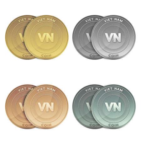 viet nam: VIET NAM two Coins on background