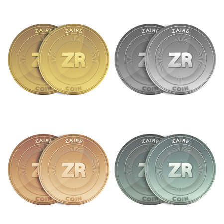 zaire: ZAIRE two Coins on background