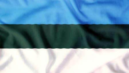 Estland-Flagge winken bunte Standard-Bild - 32062360