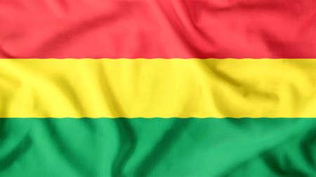 bandera de bolivia: Bolivia bandera ondeando colorido Foto de archivo
