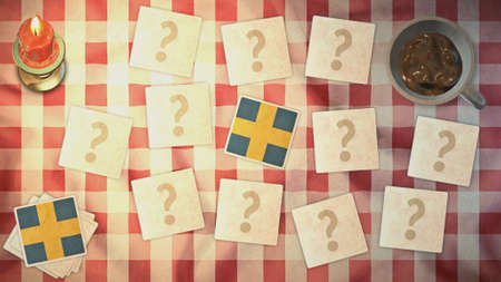 matching: suecia estilos de tarjetas a juego de la bandera de la vendimia