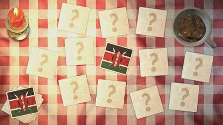 matching: Kenia estilos de tarjetas a juego de la bandera de la vendimia