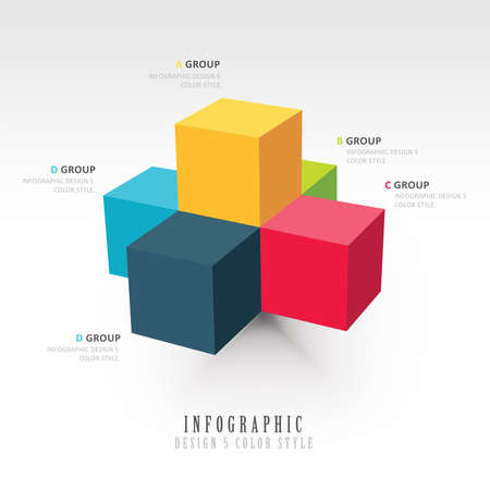 Vector template for infographic Vector