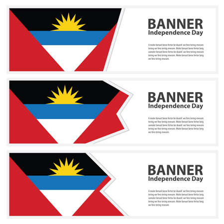 antigua: antigua and barbuda  Flag banners collection independence day