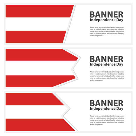 austria flag: austria  Flag banners collection independence day