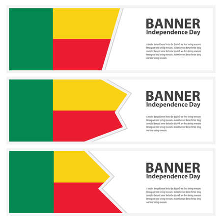 benin: benin  Flag banners collection independence day Illustration