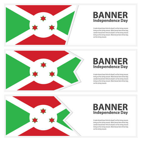 burundi: burundi  Flag banners collection independence day Illustration
