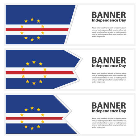 cape verde: cape verde Flag banners collection independence day Illustration
