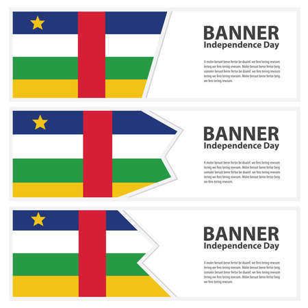 central african republic: central african republic Flag banners collection independence day