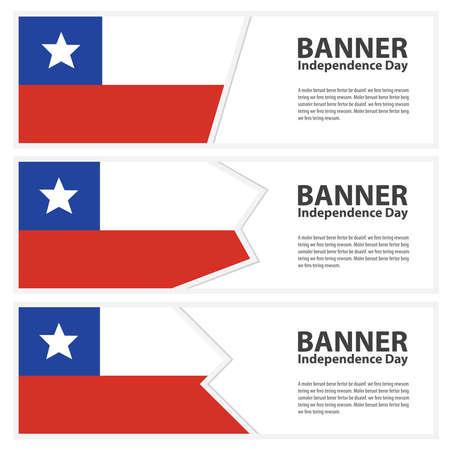 bandera de chile: Chile Bandera Banderas de día de la independencia colección Vectores