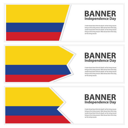 colombia flag: colombia Flag banners collection independence day Illustration