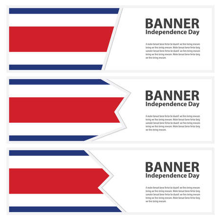 costa rica flag: costa rica Flag banners collection independence day